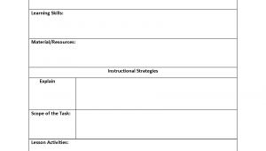 Lessonplan Template Lesson Plan Template
