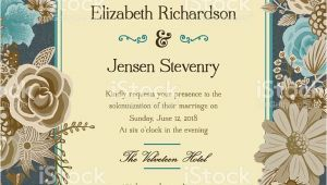 Library Card Invitation Template Free A Wedding Invitation Template Adorned with Floral Elements