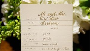 Library Card Wedding Guest Book Escort Cards