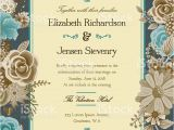 Library Card Wedding Invitation Template A Wedding Invitation Template Adorned with Floral Elements