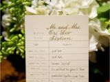 Library Card Wedding Seating Chart Escort Cards