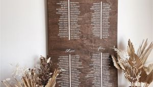 Library Card Wedding Seating Chart Seating Chart Find Your Seat Wooden Wedding Guest Seating