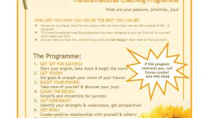 Life Coaching Flyers Templates How I Got 12 New Clients by Creating A Coaching Program