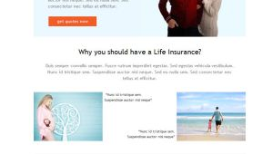 Life Insurance Email Templates Life Insurance Familiy Email Marketing Template Mailify