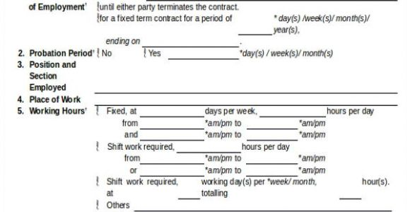 Limited Duration Contract Of Employment Template Job Agreement Contract Sample 7 Examples In Word Pdf