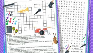Line On Many A Business Card Crossword Music Activities Crossword Puzzle and Word Search Find