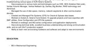 Linux Resume Sample Sample Resume for Linux System Administrator Fresher
