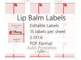 Lip Balm Label Template Avery Printable Lip Balm Label Template top Label Maker