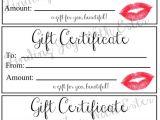 Lipsense Gift Certificate Template Free Lipsense Gift Certificate