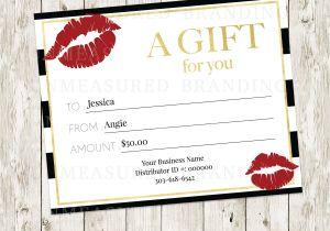 Lipsense Gift Certificate Template Free Lipsense Gift Certificate Templat Lipsense Makeup