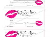Lipsense Gift Certificate Template Free Printable Gift Certificate Lipsense Senegence Gift Card