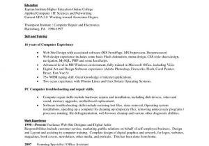 List Of Basic Skills for Resume Contoh Cover Letter Part Time How to Aa