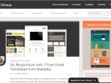 Litmus Responsive Email Templates 5 Best Free Email Marketing Templates social Media