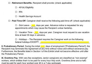 Live In Caregiver Contract Template Live In Caregiver Sample Contract Deafschool Net