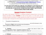 Live In Caregiver Contract Template What Constitutes A Legal Contract