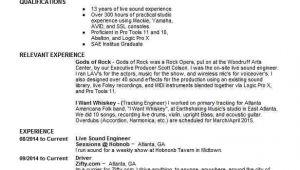 Live sound Engineer Resume Live sound Engineer Resume Sample Engineering Resumes