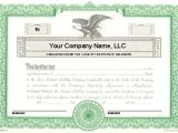 Llc Membership Certificate Template Custom Printed Certificates Limited Liability Company