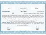 Llc Membership Certificate Template Free Stock Certificate Online Generator