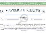 Llc Membership Certificate Template Llc Membership Certificate Free Limited Liability