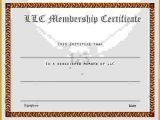 Llc Membership Certificate Template Membership Certificate Templatereference Letters Words