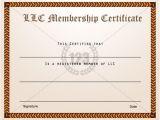 Llc Membership Certificate Template Membership Certificate Templates Best Quality Llc Free