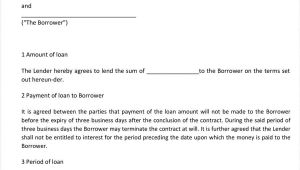 Loan Agreement Contract Template 40 Free Loan Agreement Templates Word Pdf ᐅ Template Lab