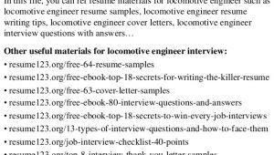Locomotive Engineer Resume top 8 Locomotive Engineer Resume Samples