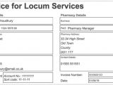 Locum Contract Template Locum Pharmacist Invoice Example Template Locate A