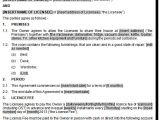 Lodger Contract Template Share House License or Lodgers Agreement