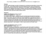Logistics Manager Resume Word format 42 Manager Resumes In Word