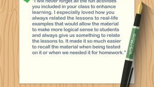 Long Message for Teachers Day Card 4 Ways to Write A Thank You Note to A Teacher Wikihow