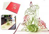 Lotus Flower Pop Up Card Vitorhytech Lotus Dreidimensionale Grua Karte Kreative Stereo