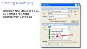 Lotus Notes Database Templates Lotus Notes Blog Template