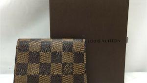 Louis Vuitton Simple Card Holder Auth Louis Vuitton Damier Ebene Enveloppe Cartes De Visite Card Case 9c260280n