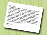 Love at the End Of A Card How to Write A Dear John Letter 13 Steps with Pictures