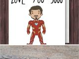 Love at the End Of A Card Iron Man 3000 Iron Man Birthday Card Blank Fathers Day Card