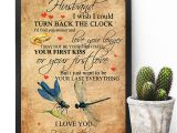 Love Card to My Husband to My Husband Dragonfly 11×17 Poster Size White