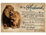 Love Card to My Husband to My Husband I Fell In Love Lion 17×11 Poster Size Chocolate