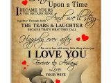 Love Card to My Husband to My Husband once Upon A Time