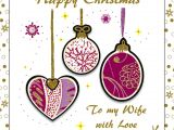 Love Card to My Wife Wife Purple Baubles