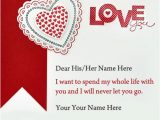 Love Card with Name Edit Love You Card Name Picture Love Name Generator
