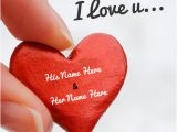 Love Card with Name Edit Print Couple Name I Love You Heart Picture