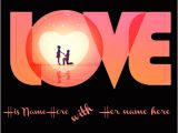 Love Card with Name Edit Write Your Name On Love Heart Greeting Online Pic Edit