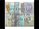 Love From Lizi Card Kit Love From Lizi February 2019 10 Cards 1 Kit