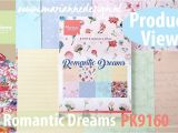 Love From Lizi Card Kit Paper Pad Flip Trough Pk9160 Romantic Dreams Product View by Marianne Design