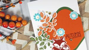 Love From Lizzie Card Kit A Sweet Card Full Of All the Fall Colors Made with the