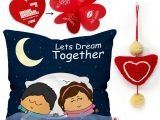 Love From Me Gift Card Indigifts Love Gift 0d 0cm062 0lov Y16 D124 Cushion Showpiece soft toy Greeting Card Gift Set