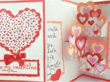 Love Heart Pop Up Card Diy Pop Up Valentine Day Card How to Make Pop Up Card for