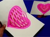 Love Heart Pop Up Card How to Make Heart Pop Up Card Making Valentine S Day Pop