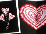 Love Heart Pop Up Card Pop Up Heart Card Easy Handmade Greeting Card Diy Pop Up